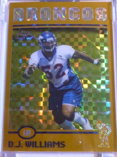 2004 Topps Chrome #191 D.J. WILLIAMS XFractor Rookie Card RC #139/279 Encased MT