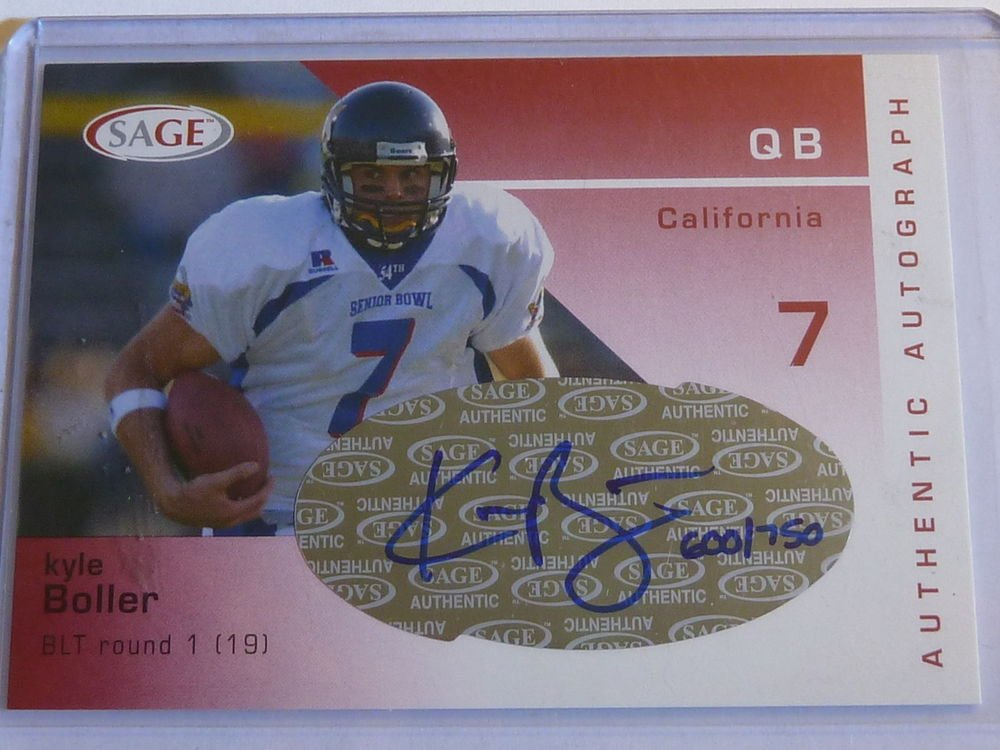 2003 Sage Red KYLE BOLLER Auto Graph Rookie Card RC #600/750 #A7 MINT CAL Ravens