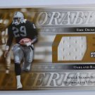 2001 ERIC DICKERSON UD NFL Legends GU Jersey Patch Card Raiders #MM-ED SP /150