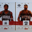 2003-04 UD Glass BARON DAVIS CHRIS WEBBER Clear Winner LOT of 2 Inserts #93 #103