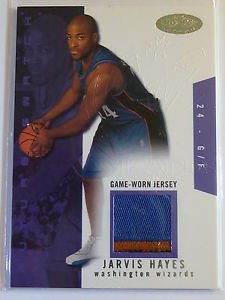 JARVIS HAYES 03-04 NBA Hoops Hot Prospects 3 Color Jersey Patch Rookie RC #/500