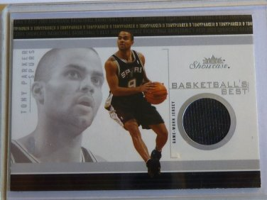 TONY PARKER 2003-04 Fleer Showcase Basketball GU Jersey Patch Card #BB-TP MINT