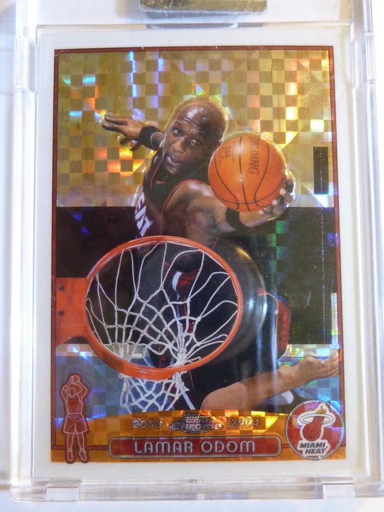LAMAR ODOM 2003-04 Topps Chrome XFractor Basketball Card #98 #158/220 Encased MT
