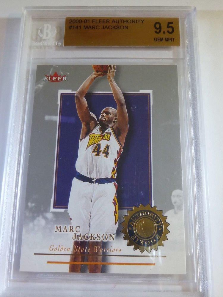 MARC JACKSON 2000-01 Fleer Authority Basketball RC Rookie Card #141 GEM MINT 9.5