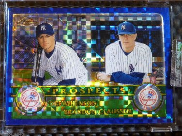 2003 Topps Chrome DREW HENSON BRANDON CLAUSSEN Rookie RC Xfractor Card 437 /57
