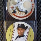 2003 Fleer Hardball DEREK JETER Lot On the Ball Game Used Bat Card #2 Yankees