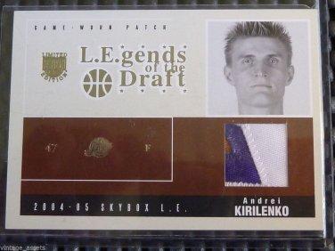 2004-05 Skybox LE ANDREI KIRILENKO Legends Draft Jersey PATCH Card LD-AK #16/25