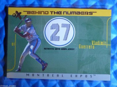 2003 Fleer EX VLADIMIR GUERRERO Behind the Numbers Jersey #BTNGU-VG #/199