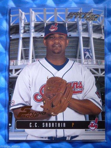 2003 Donruss Studio Proof C.C. SABATHIA #25 #099/100 Indians NY Yankees