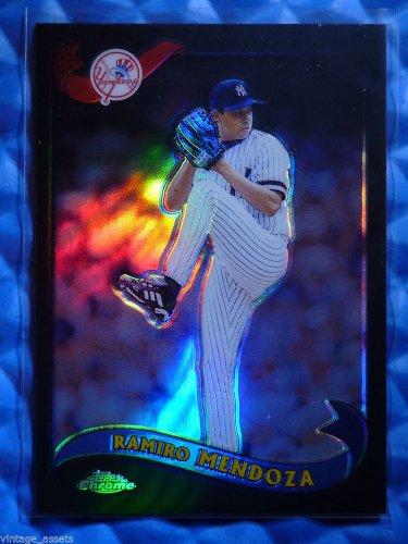 2002 Topps Chrome RAMIRO MENDOZA Black Refractor Yankees Card #52 #10/50 RARE SP