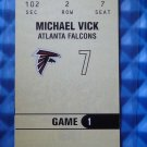 2003 Fleer Authentix MICHAEL MIKE VICK Ticket Stud Game Worn Jersey Patch #TS-MV