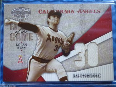 2004 Leaf Certified Materials NOLAN RYAN Fabric of the Game Jersey Patch #21/30