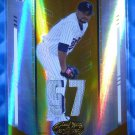 2004 Leaf Certified Materials JOHAN SANTANA #/25 Gold Mirror Jersey Patch Button