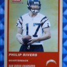 2004 Fleer Tradition PHILIP RIVERS Rookie Card RC Orange #337 Chargers NC State