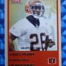 2004 Fleer Tradition CHRIS PERRY Draft Day Rookie Card RC #343 #357/375 Bengals