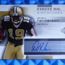 2004 Finite Signatures DEVERY HENDERSON Auto Graph Rookie RC #FS-DH Saints