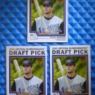 3- 2004 Topps CONOR JACKSON Rookie Card RC Lot #671 Diamondbacks