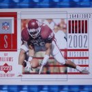 2002 Piece of History in Making ROY WILLIAMS Rookie Card RC #121 #/2002 Sooners