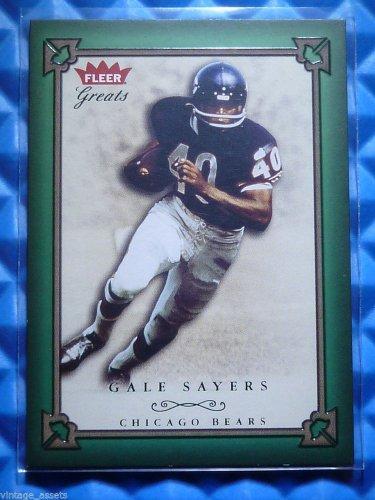 2004 Fleer Greats GALE SAYERS Green Emerald #36 #49/500 HOF Chicago Bears