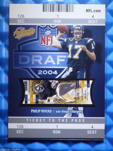 2004 Fleer Authentix PHILIP RIVERS Rookie Card RC #111 #232/750 Chargers