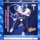 2004 Fleer Authentix ANDRE JOHNSON Balcony #17 #56/75 RARE Texans