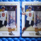 Lot of 2 - 2002 Fleer Authentix DAVID CARR Second Row Rookie Card RC #101 #/250