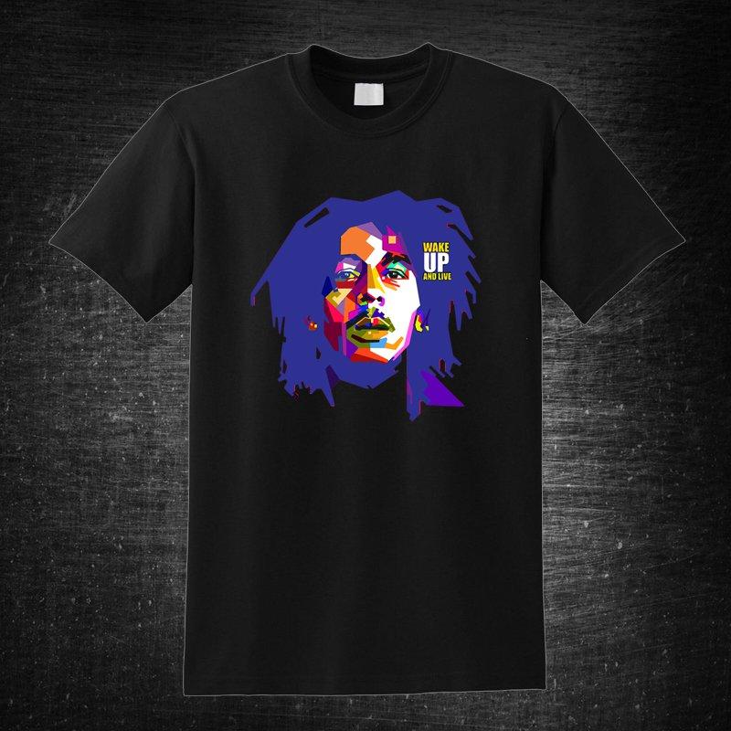 Bob Marley Wake up and Live Black t-shirt