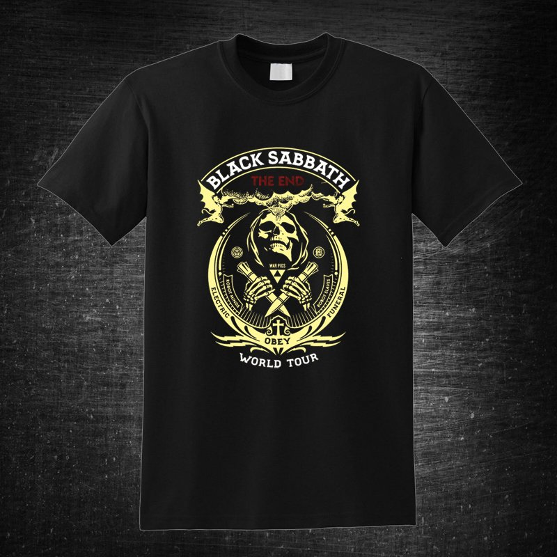 Black Sabbat the End World Tour 1 Black t-shirt