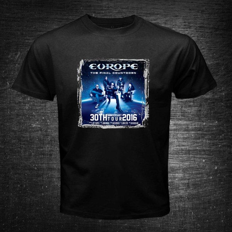 Europe The Final Countdown 30th Anniversary Tour #2 Black t-shirt