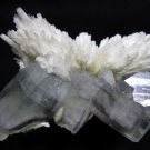 AWESOME MORDENITE AND APOPHYLLITE MINERALS FORMATION COLLECTIBLES SPECIMEN INDIA