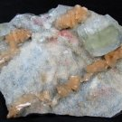 AMAZING LIGHT GREEN APOPHYLLITE AND STILBITE MINERALS FORMATION COLLECTIBLES