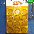 PISTON RINGS 49x1.5mm SET of 12 (24 rings total) Fits STIHL TS400 TS360 TS350