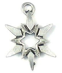Star Flake lead free pewter charm 25 pieces