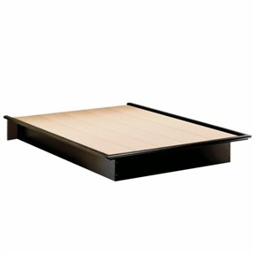 Modern Platform Bed - Full | Black