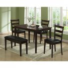 5 Pieces Dining Dinette Set | Cappuccino