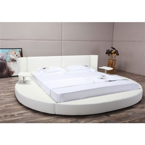 Platform Bed with LED Headboard and Nightstands - King