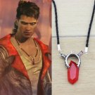 Devil May Cry Necklace Dante Vergil Red Amulet Pendant With Chain DMC Anime Cosplay
