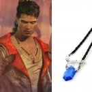 Devil May Cry Necklace Dante Vergil Blue Amulet Pendant With Chain DMC Anime Cosplay