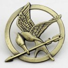 #4 The Hunger Games Mockingjay Pin Bronze Katniss Everdeen Bird Badge Prop Brooch Tribute Token