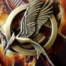 #3 The Hunger Games Mockingjay Pin Bronze Catching Fire Katniss Everdeen Bird Badge Prop Brooch