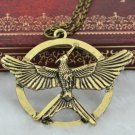 #12 The Hunger Games 3 Mockingjay Necklace Bronze Katniss Everdeen Bird Badge Prop Brooch Tribute