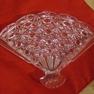 Avon fan-shapped glass soap dish