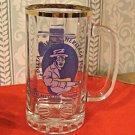 Souvineer Beer Mug 1995 Delta Blues and Heritage Fest, Gold Rim