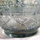 Smal Pressed Glass Serving Bowl with Star and Diamond Pattern