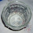 Vintage clear pressed glass sugar/candy bowl thumbprint and facet design