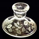 Hummingbird & Morning Glory  Candlestick from Avon, round base