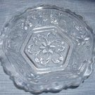 "Vintage Crystal Tiara Sandwich Pattern Bowl 6"" Hexagonal"