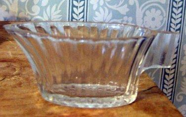 Vintage miniature creamer sauce server in pressed glass