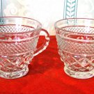 Pair of Anchor Hocking Wexford Punch or Snack Cups
