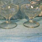 Set of Four Libbey Footed Thumbprint Low Sherbet/Dessert Dishes